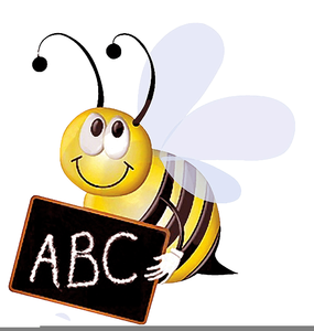 Animated bee free images. Spelling clipart clip black and white download