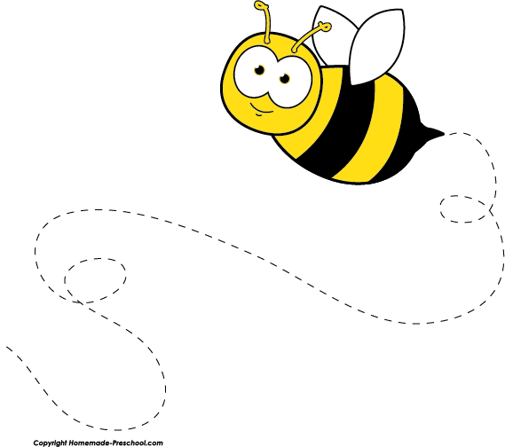 Bee clipart template. Free beekeeping pinterest bees
