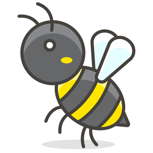 Bee animal insect icon. Wasp vector banner library