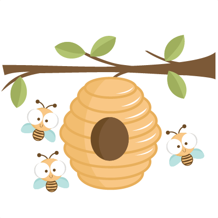Beehive svg cutting file. Bees transparent clip art free