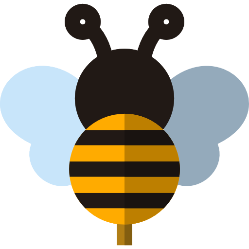 Bee icon png. Free animals icons