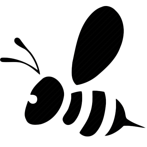 bee black and white png
