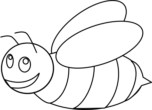 Bee outline png. Bumble clip art at