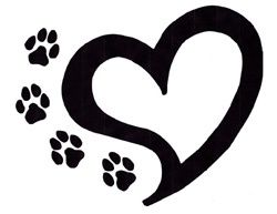 Bee paw. Prints and heart tattoo