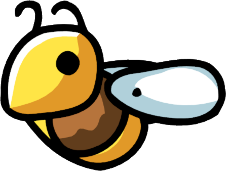 Image scribblenauts wiki fandom. Bee png jpg black and white library