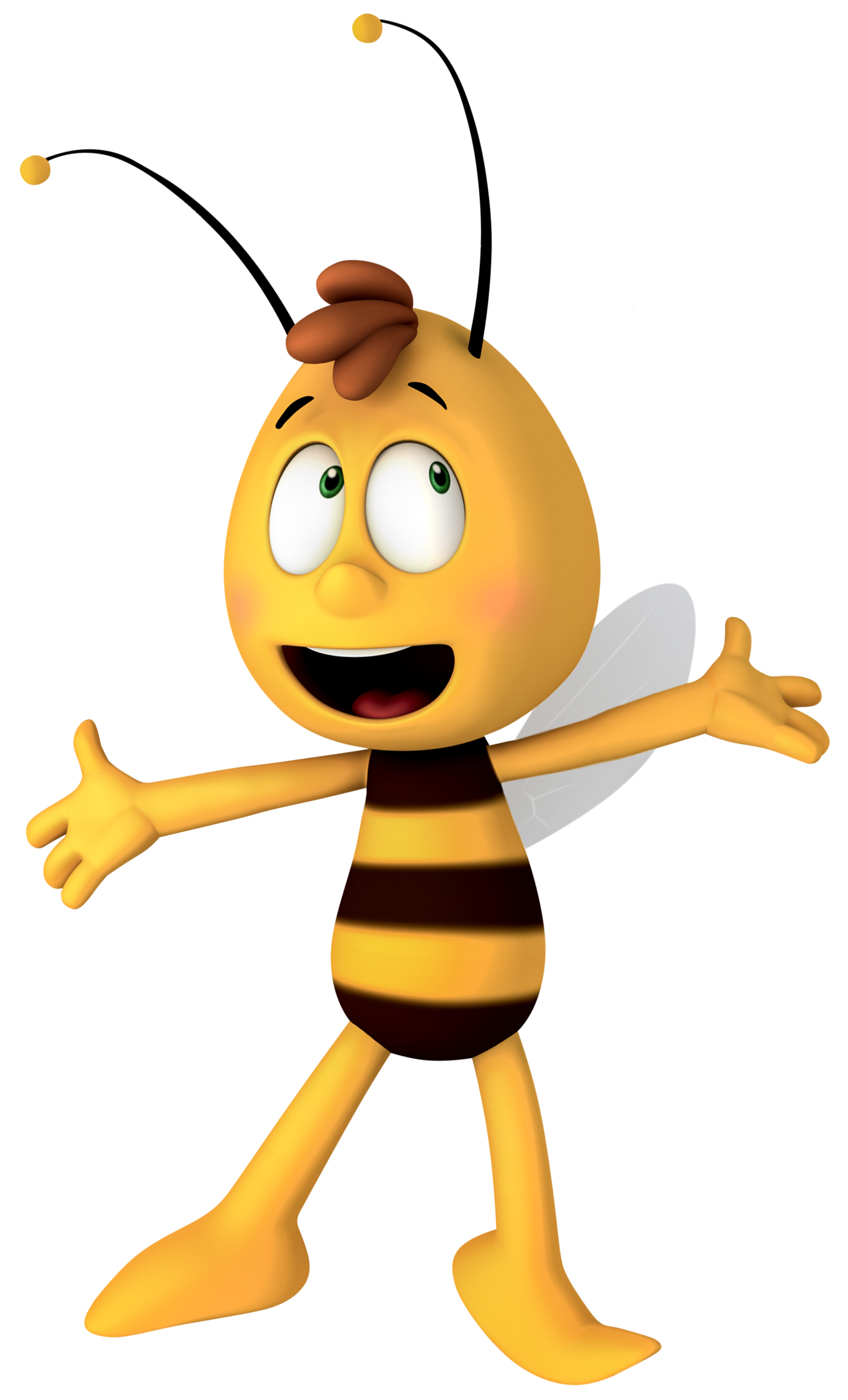 Bees transparent easy cartoon. Willy maya the bee