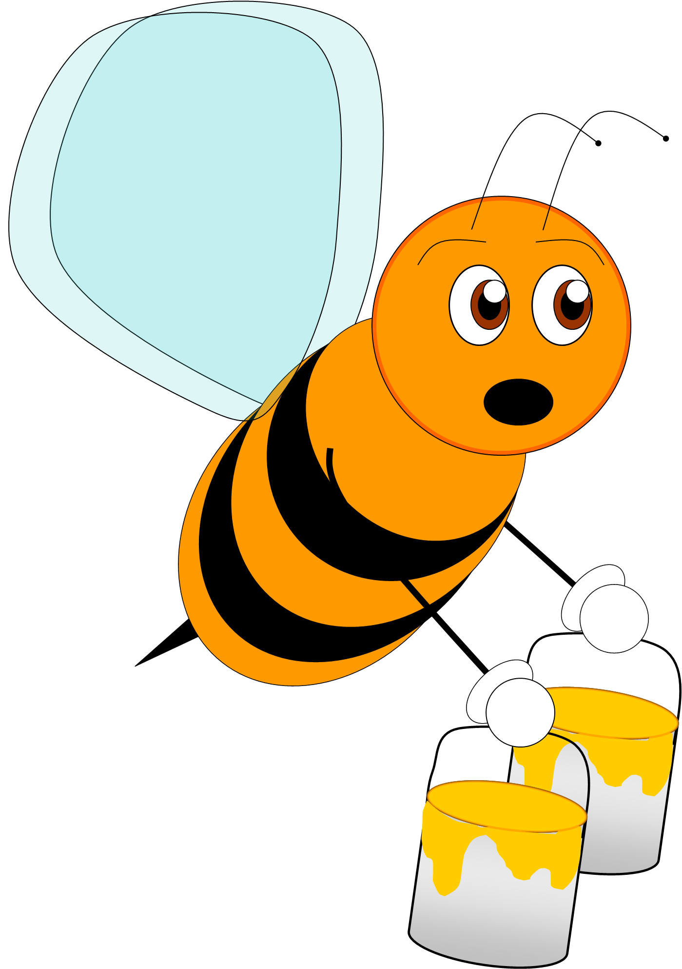 Bee vector png. Free images at clker