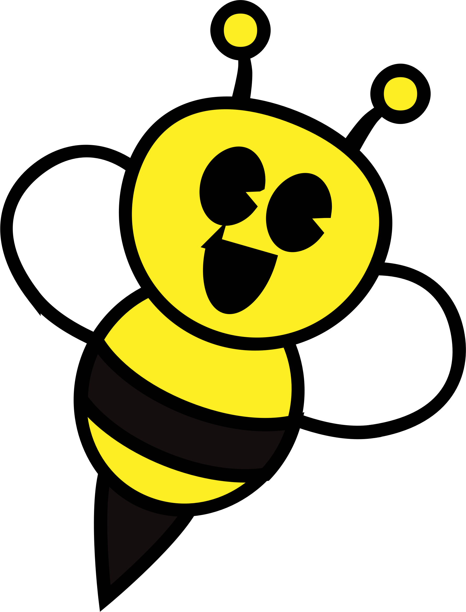 Bee vector png. Clipart big image