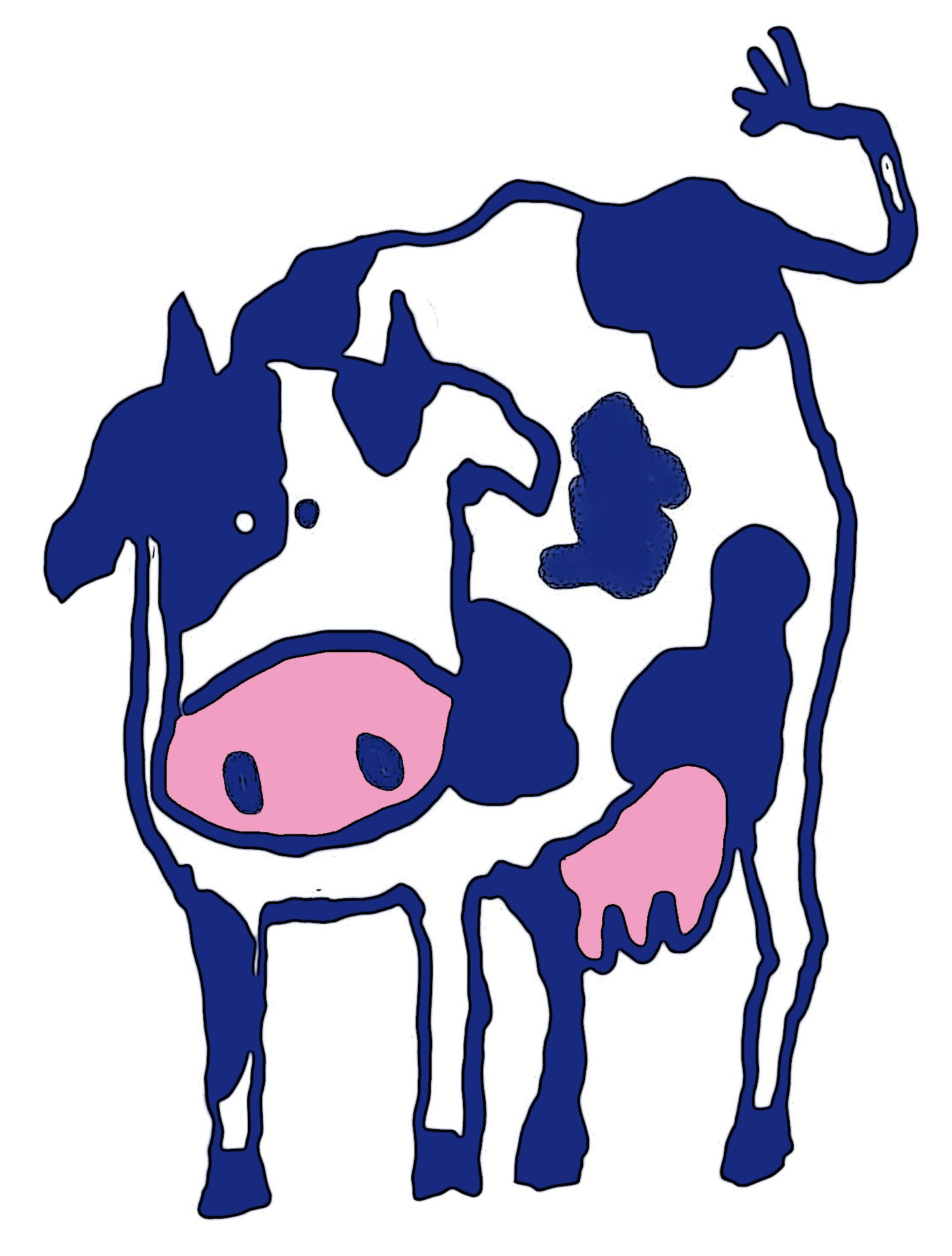 Cattle clipart cow horn. Free images pasture blue