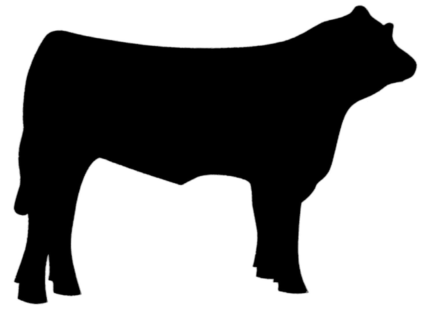 Beef cow at getdrawings. Steering clipart silhouette image library stock