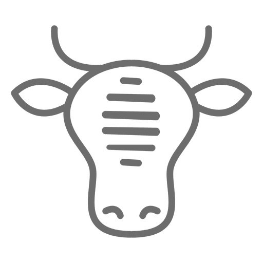 Beef vector 100%. Cow stroke icon transparent