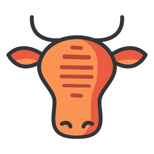 Beef vector 100%. Cow icon meat transparent