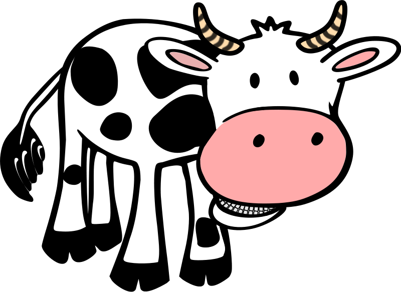 Beef vector caw. Cow clipart cute simple