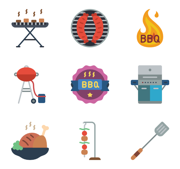 Beef vector pork. Meat icons free barbeque