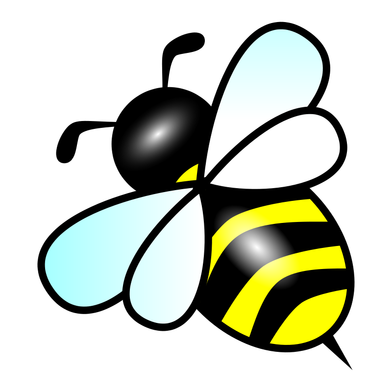 Shapes clipart bee. Home free beehive bees