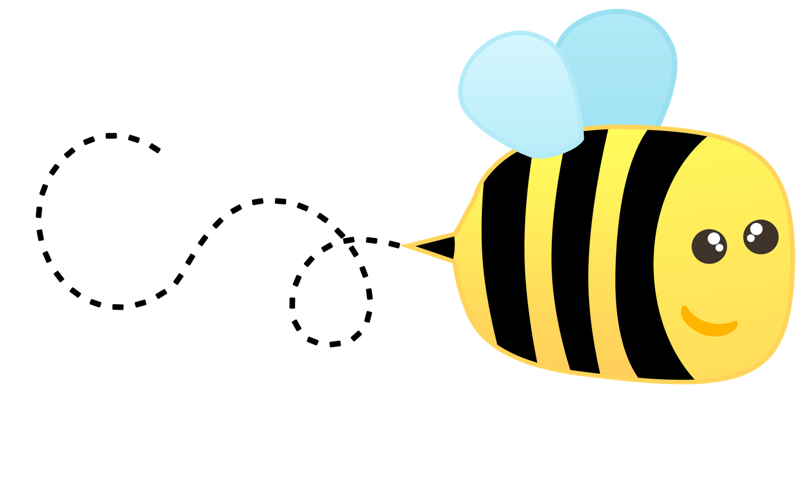 tired clipart bee