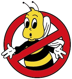 Wasp vector animated. Bee removal orange county