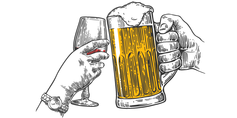 The ideal wine for. Transparent beer illustration picture stock