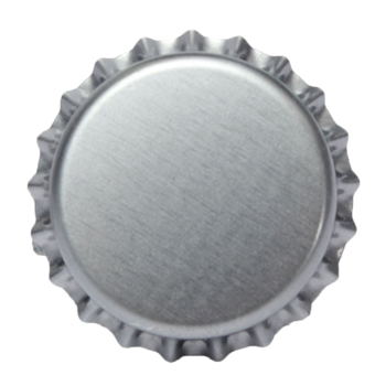 Beer bottle cap png. Silver customized logo metal