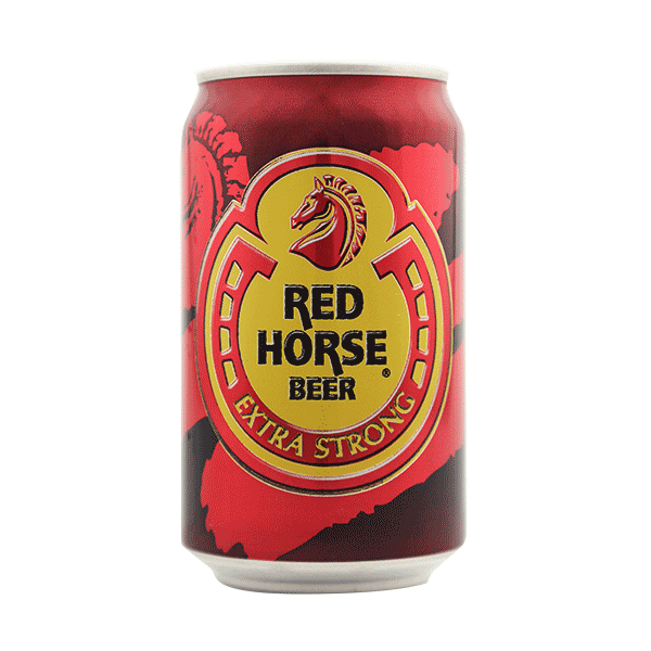 Transparent beer red horse