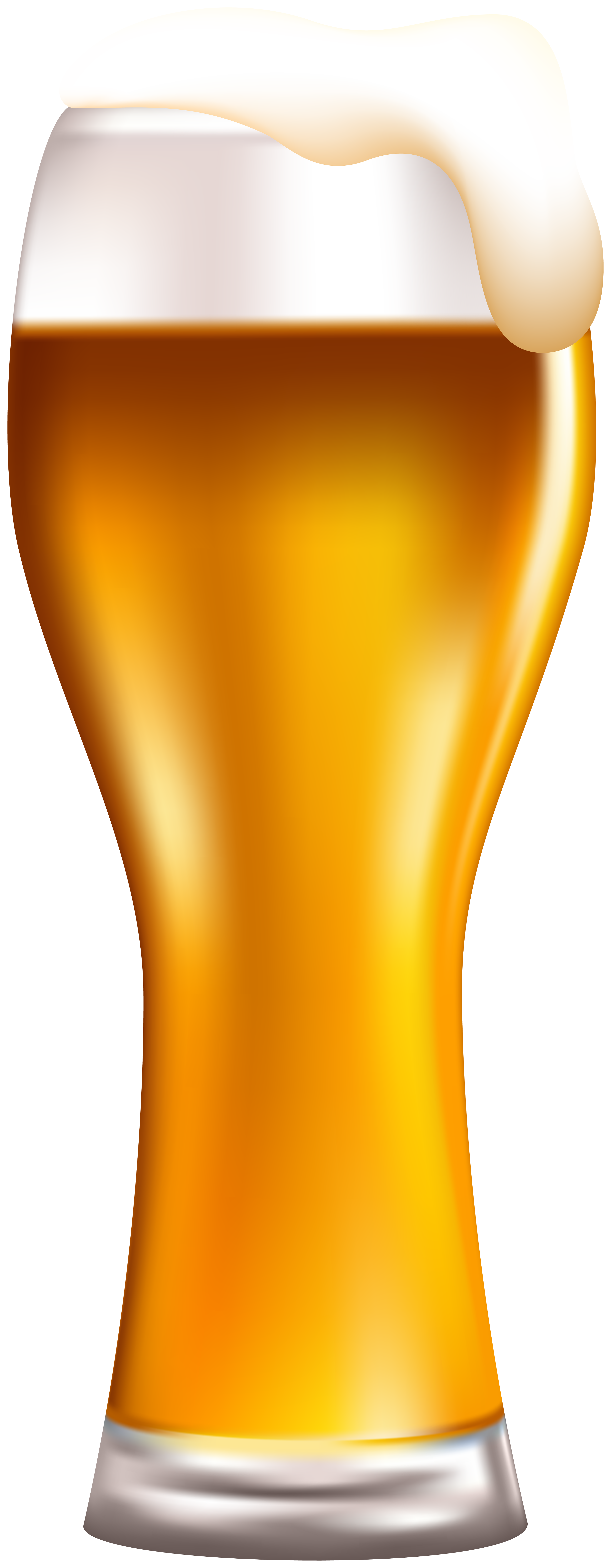 Transparent beer froth. Glass with foam png