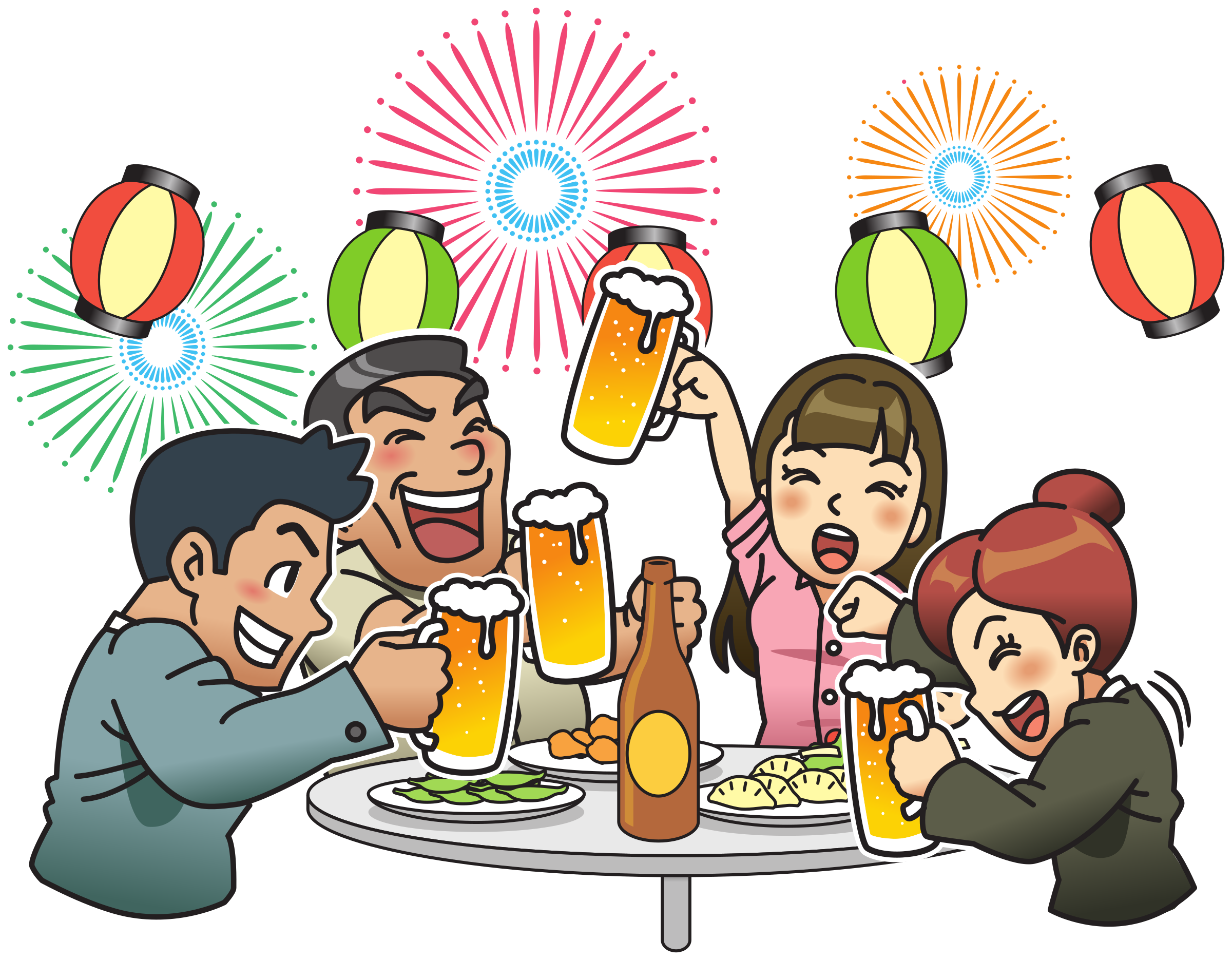 Beer clip garden. Clipart party with fireworks
