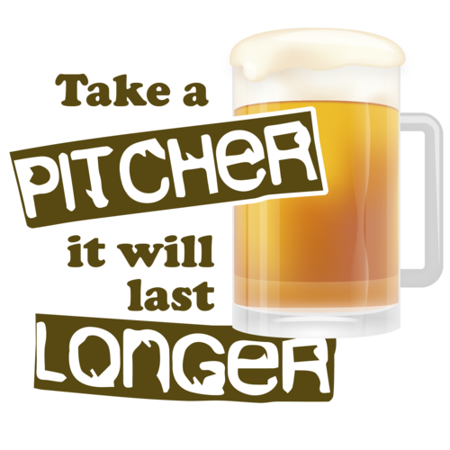 Beer clip pitcher. Take a it will