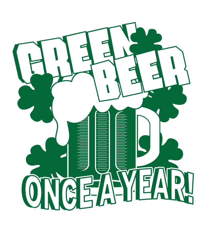 Beer clip pub crawl. Green once a year