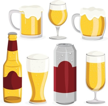 Beer clipart. Vector free download for