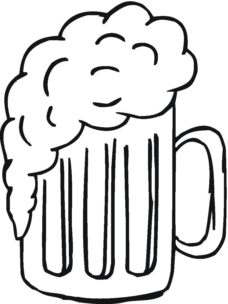 Beer clipart outline. Stein