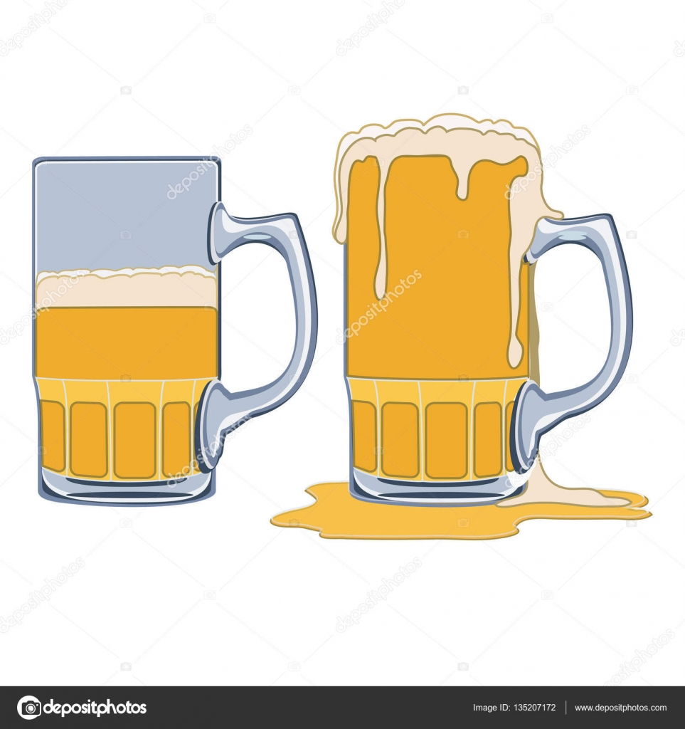 Beer clipart overflowing cup. Glass half full empty