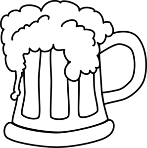 Beer clipart. Monochrome clip art at