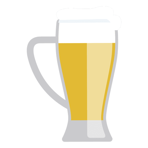 Beer glass silhouette png. Jar foam transparent svg