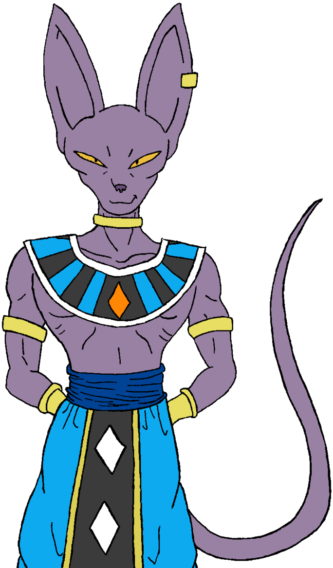 Drawing dbz beerus. Lord by kaosjay on