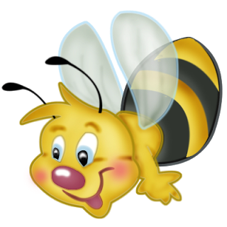 Bees transparent kid. Cartoon bugs clip art