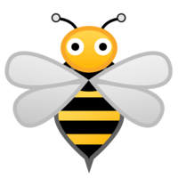Bees transparent. High quality png