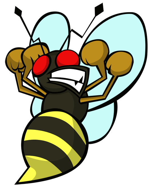 Bees transparent angry. Bee by ekarasz on