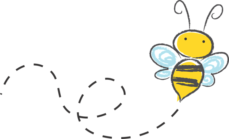 Vector path bee. Image library transparent