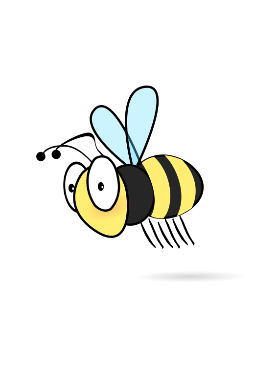 Bees transparent blank background. Bee free stock photo