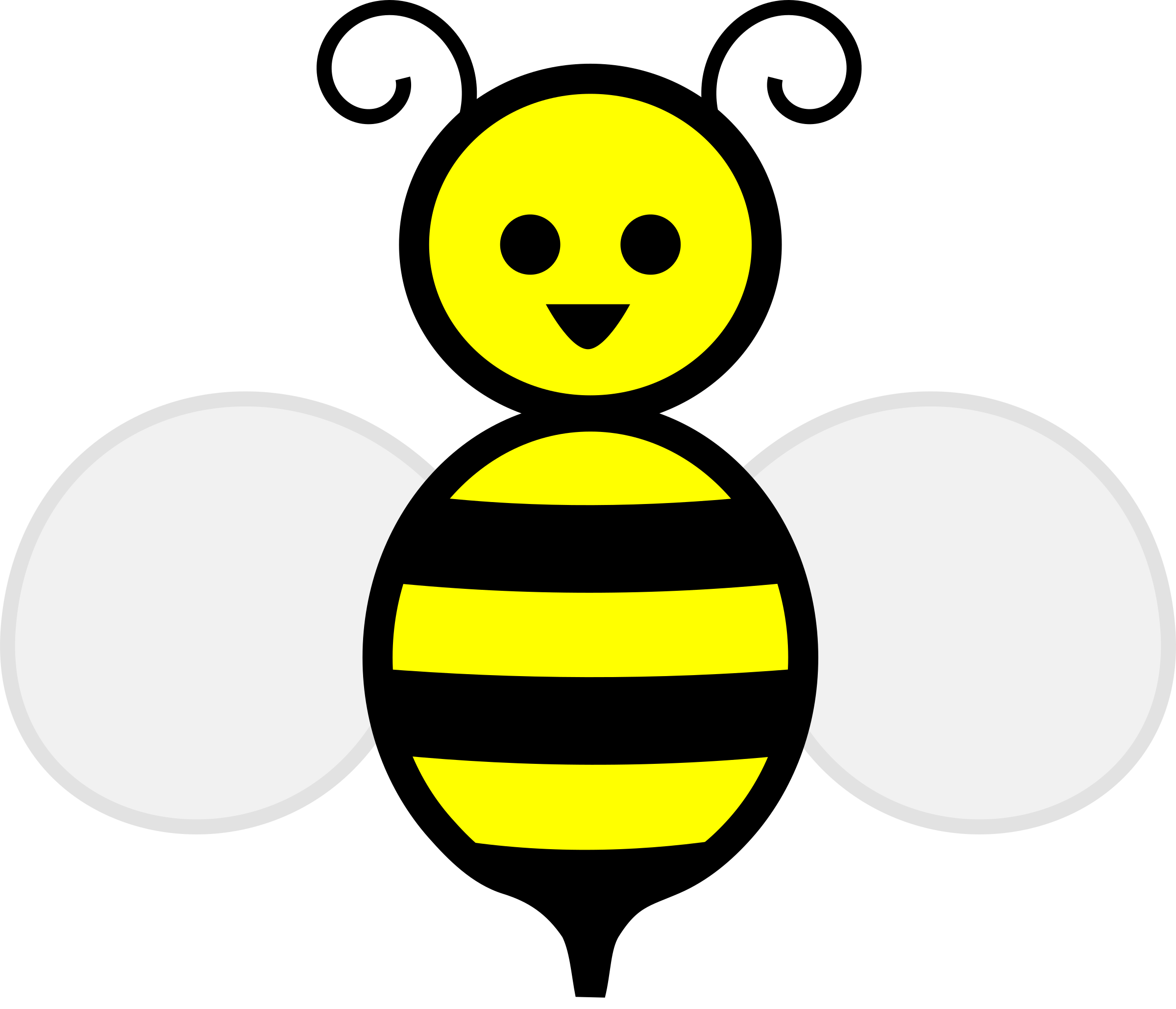 Bees transparent female. Collection of free fecial