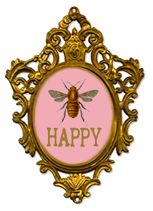 Bees transparent vintage. Bee happy or maybe