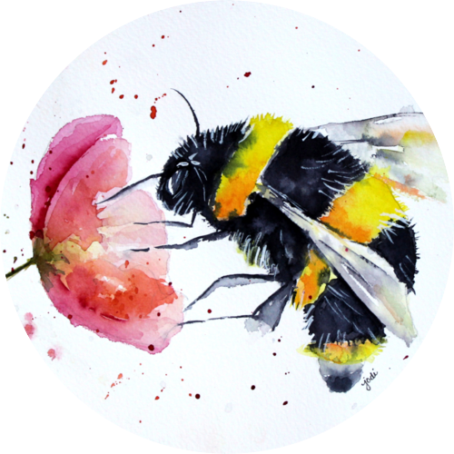Bees transparent watercolor. Hr management software monday