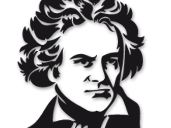 Beethoven drawing transparent. S slightly higher and