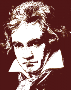 Beethoven drawing real. The music of yung