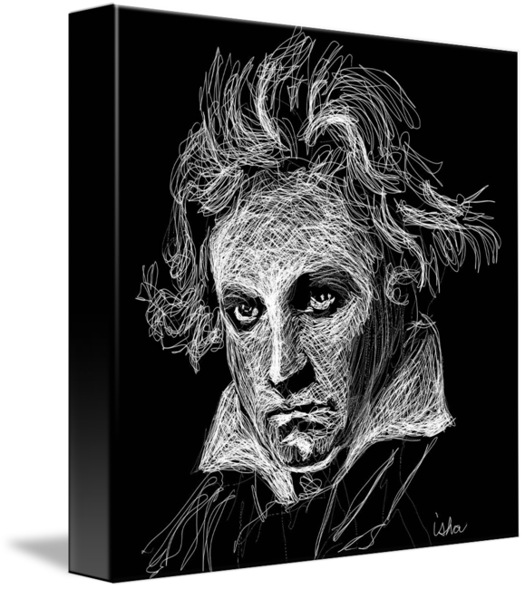 Beethoven drawing. Ludvig von by gerhardt