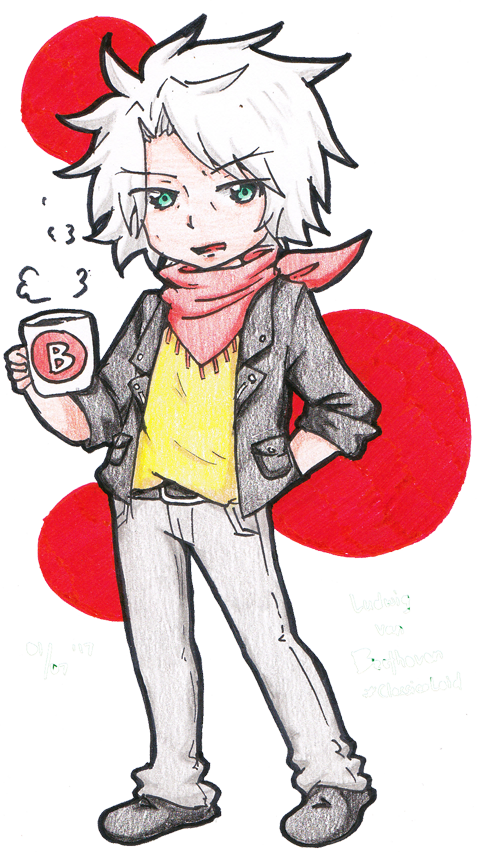 Beethoven drawing smile. Classicaloid ludwig van by