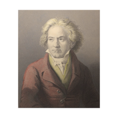 Beethoven drawing abstract. Poster pixers we live