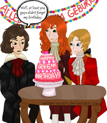 Mozart drawing wolfie. Happy birthday beethoven by