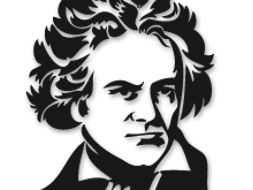 Beethoven drawing smile. S slightly higher and