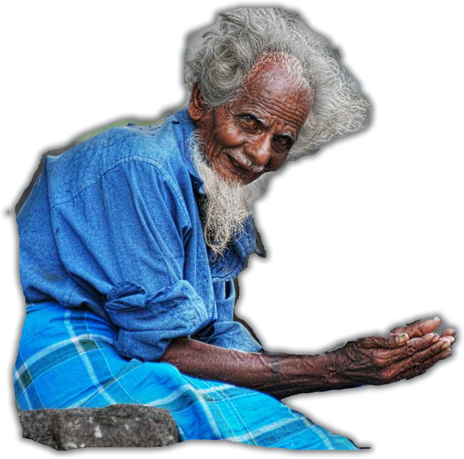 Beggar drawing begger. Parihara central relief committee